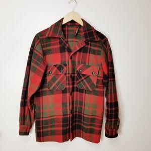 Woolrich Vintage Jacket S Wool Plaid Rockabilly